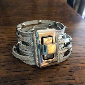 Cara NY leather wrap buckle bracelet